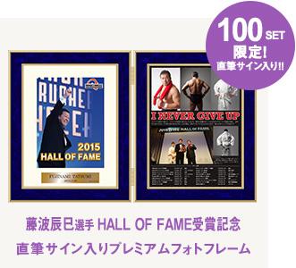 藤波辰爾「2015 HALL OF FAME 受賞記念」 直筆サイン入りフォトフレーム